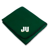 Dark Green Arctic Fleece Blanket-JU