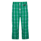 Green/White Flannel Pajama Pant-Official Logo