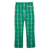 Green/White Flannel Pajama Pant-Jacksonville Dolphins Word Mark