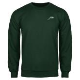 Dark Green Fleece Crew-Dolphin