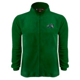 Fleece Full Zip Dark Green Jacket-Official Logo