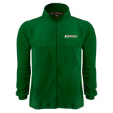 Fleece Full Zip Dark Green Jacket-Jacksonville Dolphins Word Mark