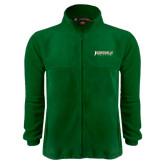 Fleece Full Zip Dark Green Jacket-Jacksonville Dolphins Word Mark