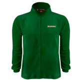 Fleece Full Zip Dark Green Jacket-Jacksonville Word Mark