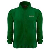 Fleece Full Zip Dark Green Jacket-Jacksonville Word Mark