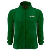 Fleece Full Zip Dark Green Jacket-Dolphins Word Mark