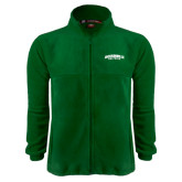 Fleece Full Zip Dark Green Jacket-Jacksonville Dolphins Arched