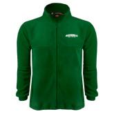 Fleece Full Zip Dark Green Jacket-Jacksonville Dolphins Arched