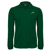 Fleece Full Zip Dark Green Jacket-Dolphin