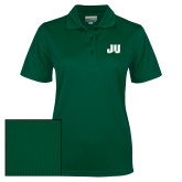 Ladies Dark Green Dry Mesh Polo-JU