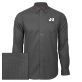 Red House Dark Charcoal Diamond Dobby Long Sleeve Shirt-JU