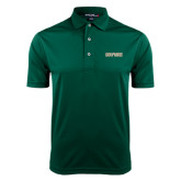 Dark Green Dry Mesh Polo-Dolphins Word Mark