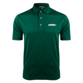 Dark Green Dry Mesh Polo-Jacksonville Dolphins Arched