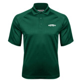 Dark Green Textured Saddle Shoulder Polo-Jacksonville Dolphins Arched