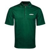 Dark Green Mini Stripe Polo-Jacksonville Dolphins Arched