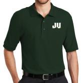 Dark Green Easycare Pique Polo-JU