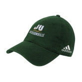 Adidas Dark Green Slouch Unstructured Low Profile Hat-Primary Logo