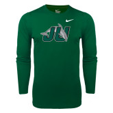 NIKE Mens Cotton Green Long Sleeve Tee-