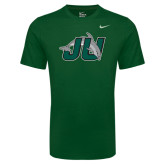 NIKE Mens Cotton Green Short Sleeve Tee-