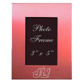 Pink Brushed Aluminum 3 x 5 Photo Frame-Official Logo Engraved