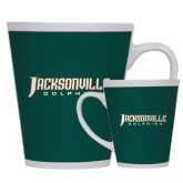 Full Color Latte Mug 12oz-Jacksonville Dolphins Word Mark
