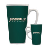 Full Color Latte Mug 17oz-Jacksonville Dolphins Word Mark