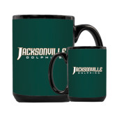 Full Color Black Mug 15oz-Jacksonville Dolphins Word Mark
