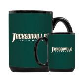 Full Color Black Mug 15oz-Jacksonville Dolphins Word Mark