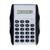 White Flip Cover Calculator-Jacksonville Word Mark