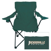 Deluxe Green Captains Chair-Jacksonville Dolphins Word Mark