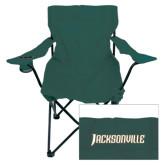 Deluxe Green Captains Chair-Jacksonville Word Mark