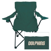 Deluxe Green Captains Chair-Dolphins Word Mark