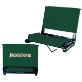 Stadium Chair Dark Green-Jacksonville Word Mark