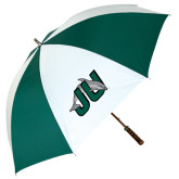62 Inch Forest Green/White Umbrella-Official Logo