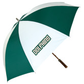 62 Inch Forest Green/White Umbrella-Dolphins Word Mark