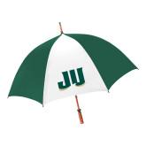 62 Inch Forest Green/White Umbrella-JU