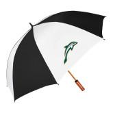 62 Inch Black/White Vented Umbrella-Dolphin