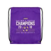 Purple Drawstring Backpack-2018 CAA Mens Soccer Champions
