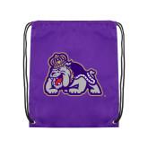 Purple Drawstring Backpack-Duke Dog