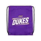 Purple Drawstring Backpack-Dukes Slanted