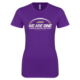 Next Level Ladies SoftStyle Junior Fitted Purple Tee-We Are One - Kickoff 2017