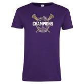 Ladies Purple T Shirt-2018 Womens Lacrosse National Championship #1