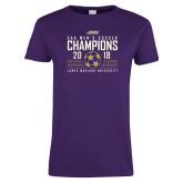 Ladies Purple T Shirt-2018 CAA Mens Soccer Champions