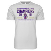 Next Level SoftStyle White T Shirt-2019 Womens Swimming & Diving Champions