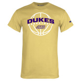 Champion Vegas Gold T Shirt-Dukes Basketball Arched w/ Ball