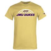 Champion Vegas Gold T Shirt-JMU Dukes Basketball Half Ball