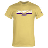 Champion Vegas Gold T Shirt-Swimming and Diving Champions
