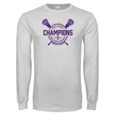 White Long Sleeve T Shirt-2018 Womens Lacrosse National Championship #1