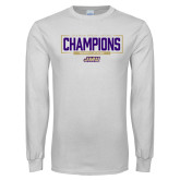White Long Sleeve T Shirt-2018 Womens Lacrosse National Championship #2