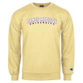 Champion Vegas Gold Fleece Crew-James Madison University Arched